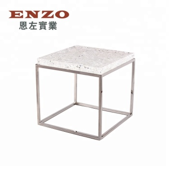Modern Cracked Glass Table Base Top Office Table Design