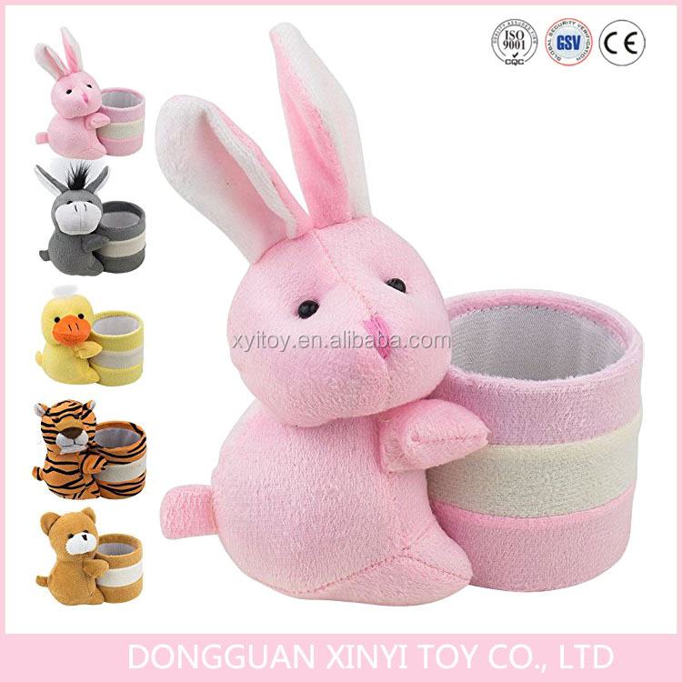 High quality plush toy animal pen holder with logo