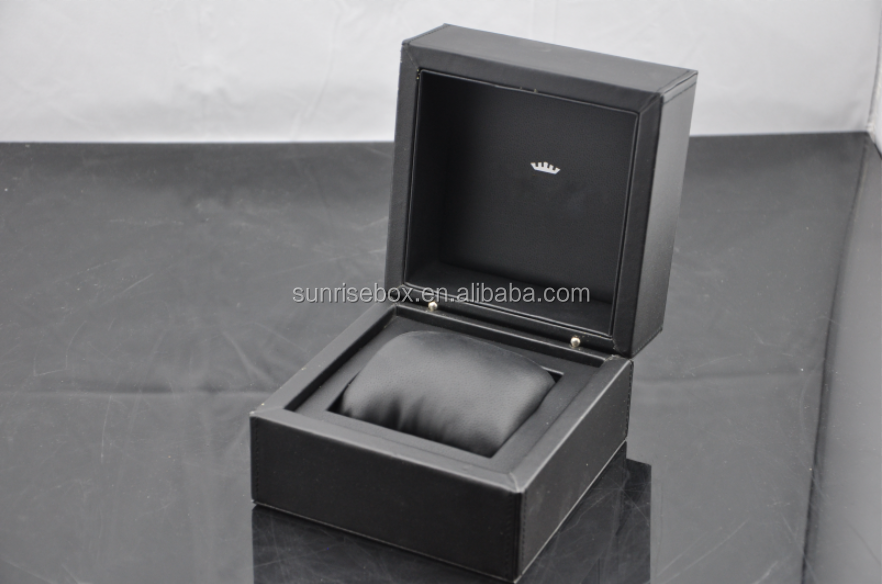 High quality leather watch box with leather pillow, wooden or plastic mould