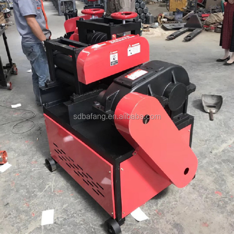 Factory price waste steel bar straightening machine