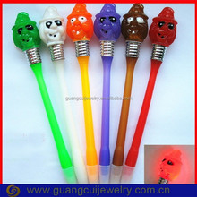 Led light Hallowmas witch ballpoint pen with company logo