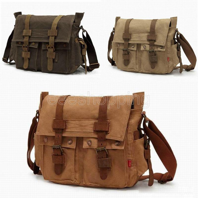 d36c728b7675 Recommended For You. AKI7 2 Exterior Pockets Messenger Bag Men s Vintage ...