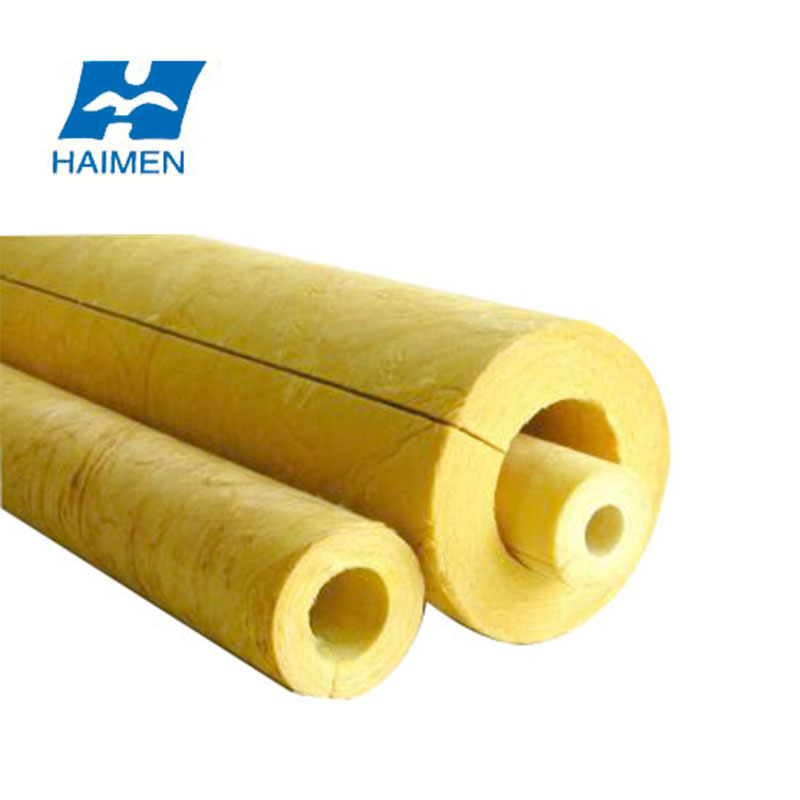 excellent quality fibreglass pipe heat insulation of glasswool tubes