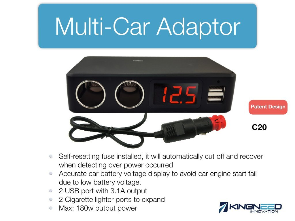 Cheap Multi Voltage Power Adaptor Find Regulator Charger Circuit Hd Walls Wallpapers Get Quotations Kingneed C20 Car Can Accurate Battery Display With 2 Cigarette Lighter