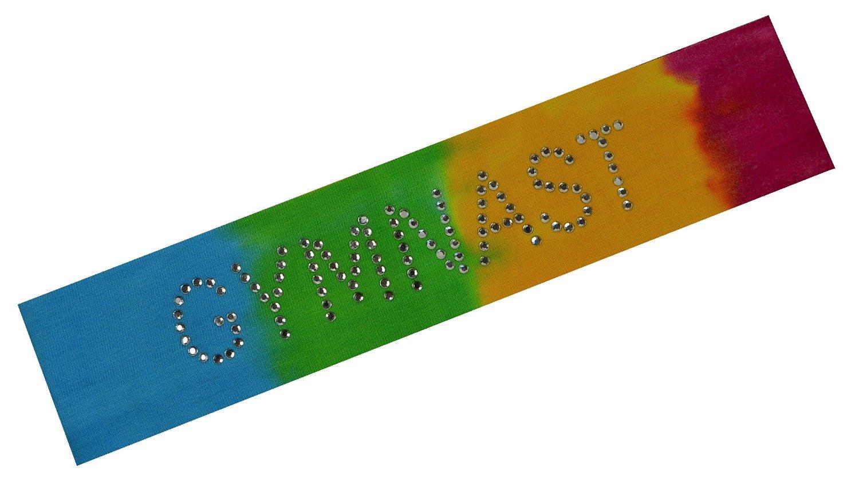 GYMNAST Rhinestone Cotton Stretch Gymnastics Headband for Girls, Teens and Adults - Gifts for Gymnastics