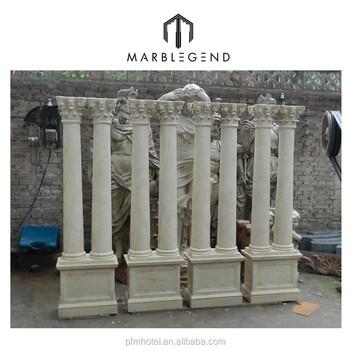 PFM Carved Outdoor Garden Pedestals And Columns