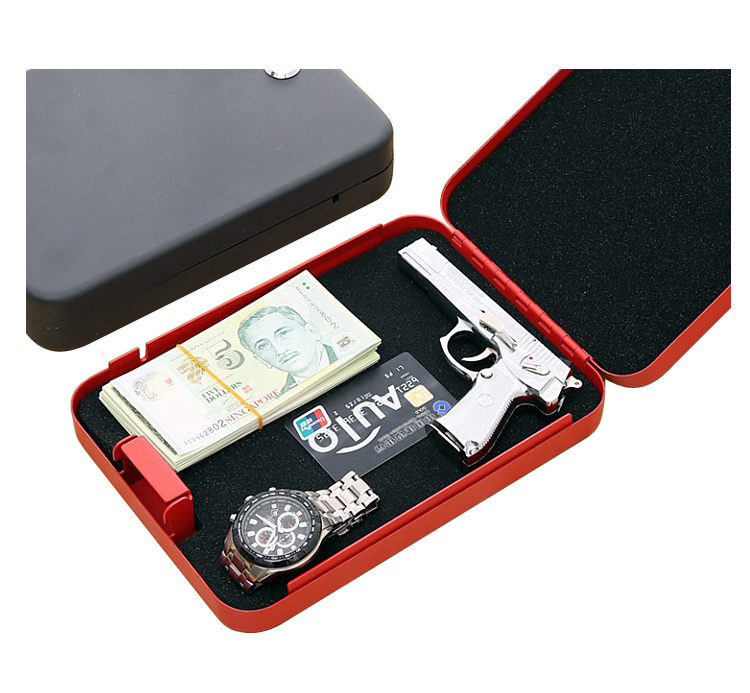 Steel security Portable Hand Gun Pistol safe box combination digital lock for safe box