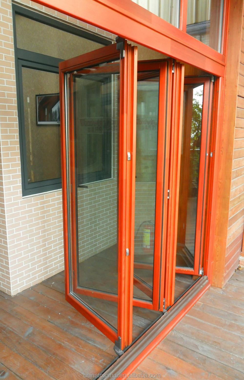 Folding Doors Product : Customized pvc bifold door wooden folding upvc