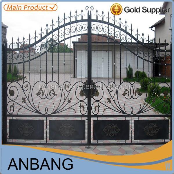 De lujo puerta de hierro forjado y puertas de patio principal rejas para puertas y ventanas - Puertas de hierro para patios ...