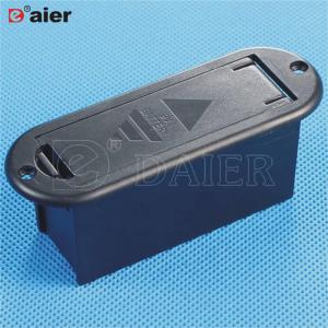 9V-2 9v battery black case with cover 9v battery holder