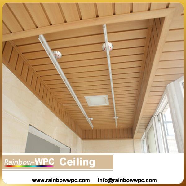 Dcorative Wpc Pvc Ceiling Wood Wpc Pvc Plastic Ceiling