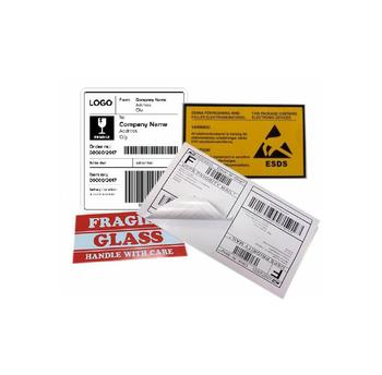custom adhesive roll paper shipping label address mailing label