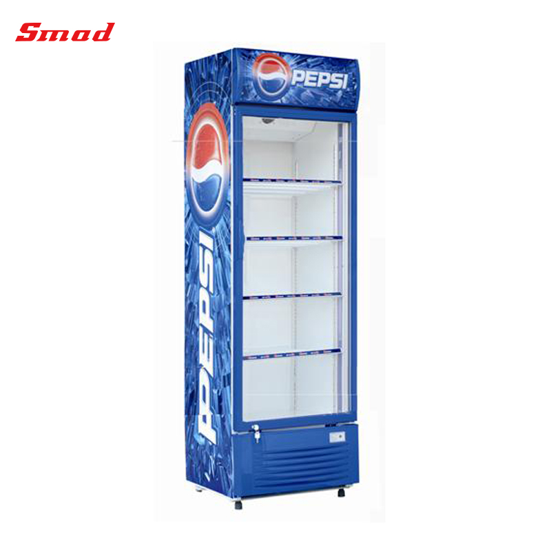 Beau 280 390L Fan Cooling Single Glass Door Display Fridge Showcase Refrigerator,  View Glass Door Refrigerators, OEM Product Details From Qingdao Smad  Electric ...
