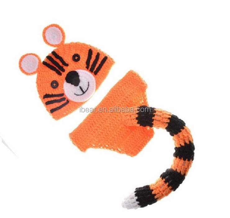 Lindo bebé Tigre patrón de punto de ganchillo fotografía apoyos de ...