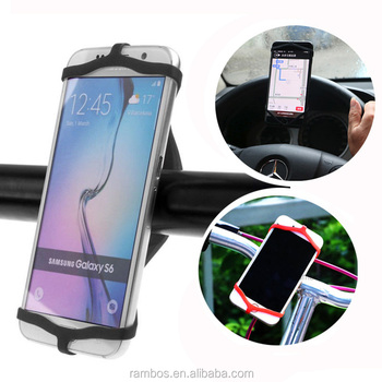 Bicycle Cycling Phone Soft Bike Silicone Rubber Band Mobile Tie Ribbon Strap Holder