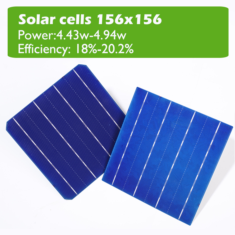 6*6 inch 4BB solar cells 156x156 B grade 18.6% high efficiency Monocrystal Silicon Solar cell for solar panel