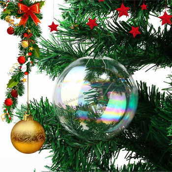 Christmas Hanging Ball Christmas Tree Drop Ornaments Glass Iridescent Ball Baubles Sphere Christmas Pendant Decoration