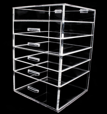 Hot Selling 6 Drawer Acrylic Makeup Organizer Clear Plastic Cosmetic Floor  Display Part 51