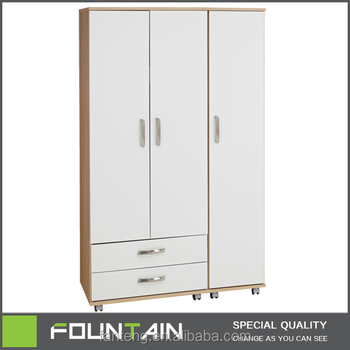Made In China Living Room Furniture Movable Closet With Wheel Flat Pack MDF Home Cabinet