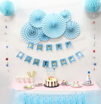 Boy Blue Happy Birthday Decoration