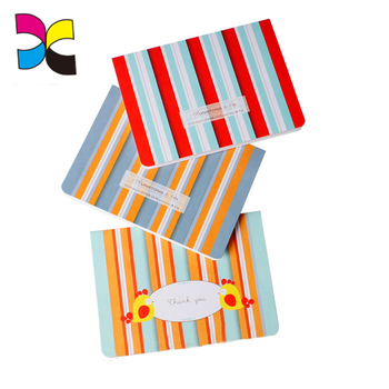 Free design wholesale custom paper folding greeting card