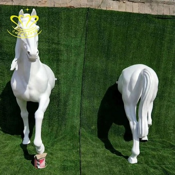 Customized Size Fiberglass Sculpture New Product Life Horse Statue For Garden Home Decor