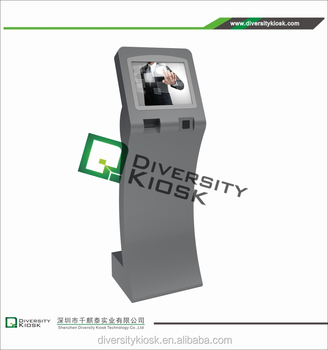 4g wireless connection wifi hotspot 19inch information kiosk with printer stand alone kiosk touch screen computer