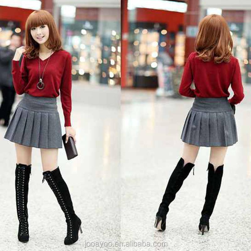femmes filles automne hiver laine pliss e mini jupe cole uniforme jupe courte buy product. Black Bedroom Furniture Sets. Home Design Ideas