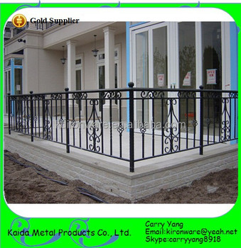 cheap metal frame material wrought iron fence panels