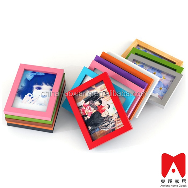 Colourful Plastic Picture Frame 4x6 5x7 6x8 8x10 3x3 outdoor decorative metal wall art