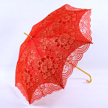 Chinese cute mini white cotton red lace parasol wedding decoration chinese cute mini white cotton red lace parasol wedding decoration umbrella for wedding junglespirit Images