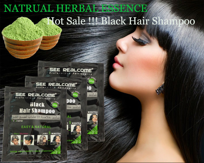 Natural Black Henna Hair Dye Hair Color Vcare Shampoo Dye 5 Mins ...