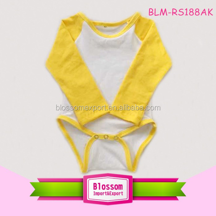 Fashion infant  cotton raglan sleeve toddler romper baby shower gift cute baby raglan pink new born baby's clothes