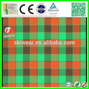popular woven plaid check 100% cotton yarn dyed shirting fabric factory