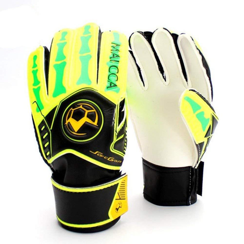 Kids Goalie Gloves Size 5 6 Kids Soccer goalkeeper gloves for kids Football  latex Goalie Gloves 6024f8d21ea5
