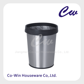 5l12l stainless steel round trash bin office trash can paper waste bin