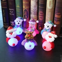 LED Night Light Gifts Christmas hanging Dolls snowman reindeer Santa lights for Christmas decoration