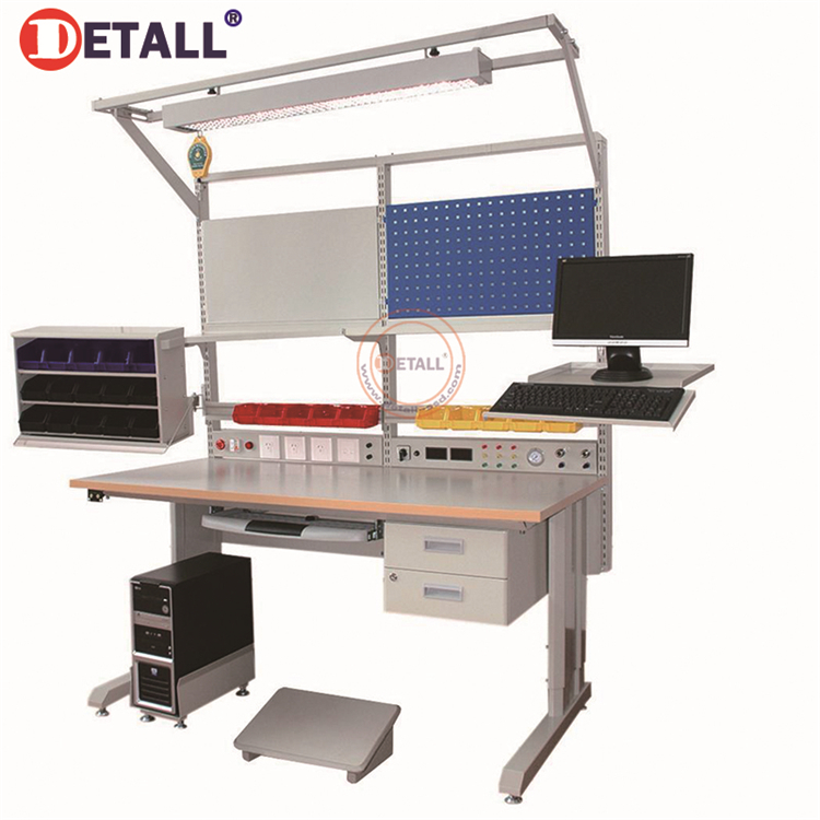 Detall Multi Function Esd Lab Steel Work Benches For