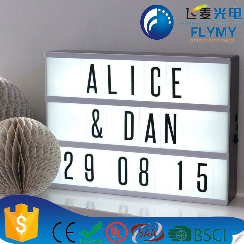 led letter lights sign letter light box for wedding and party