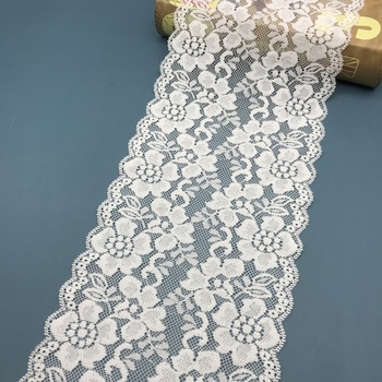 2018 fashion elegant lace eyelash trim, high quality fancy nylon elastic lace ribbon for women