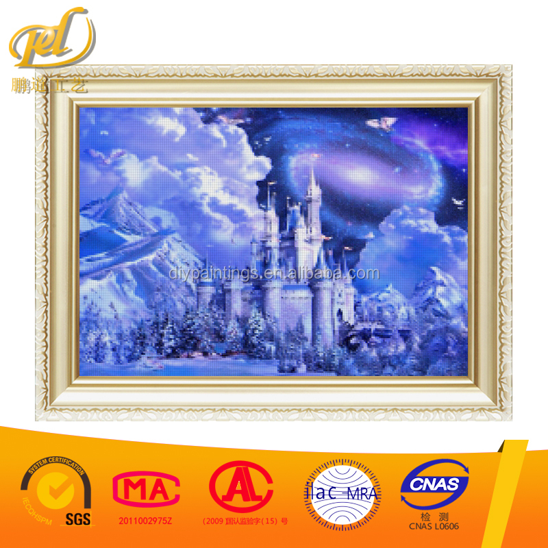 5D Square Diamond Embroidery Landscape SNOW Castle Scenery Round Diamond Mosaic Unfinished Crystal Cross Stitch kits y122