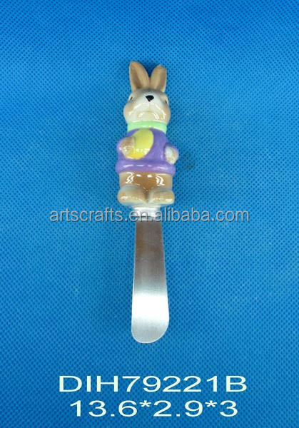 Ceramic cheese/butter knife for 2015 Easter