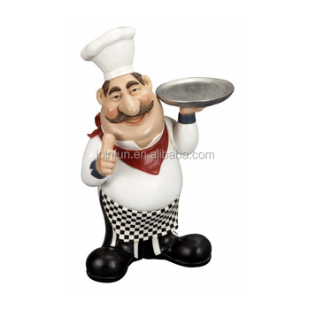 Custom Make Plastic Fat Chef Figurine Statue Kitchen Decoration,OEM Design  Kitchen Decoration Plastic Chef