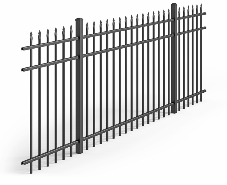 Top Quality  A Residential Aluminum Fence Section Black Bronze