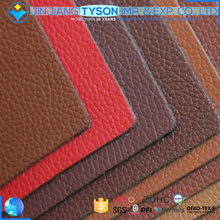 Thick lichee pattern design microfiber leather fabric for sofa