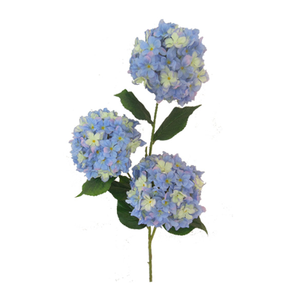 wholesale silk blue hydrangea flowers artificial