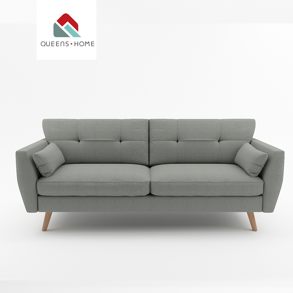 Queenshome furniture house buy 2018 modern furnishing korea furniture fabric sofa from china living room 3 seater sofa