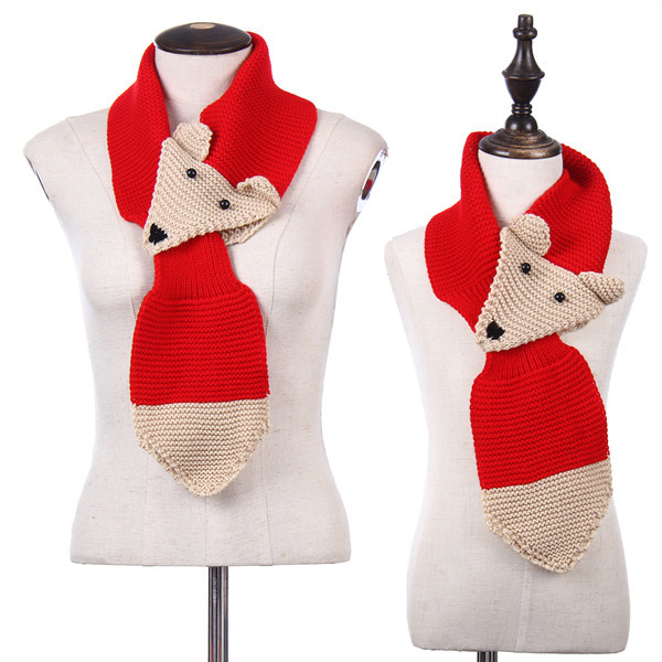 Buy Wholesale Personalized Gift Knitted Pattern Animal Scarf Knitted