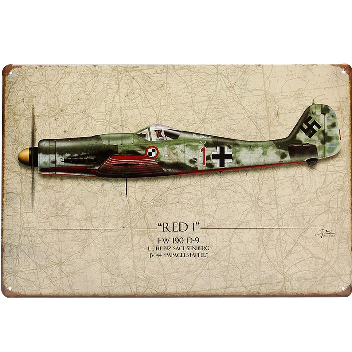 20x30cm World War Vintage Military Battle Plane Sheet Metal Drawing Decor Wall Art Plaques Signs / . : . World War Vintage Military Battle Plane Sheet Metal Drawing . . . . Specificat