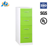 Adjustable shelf knock down new design green godrej 4 drawer steel filing cabinet